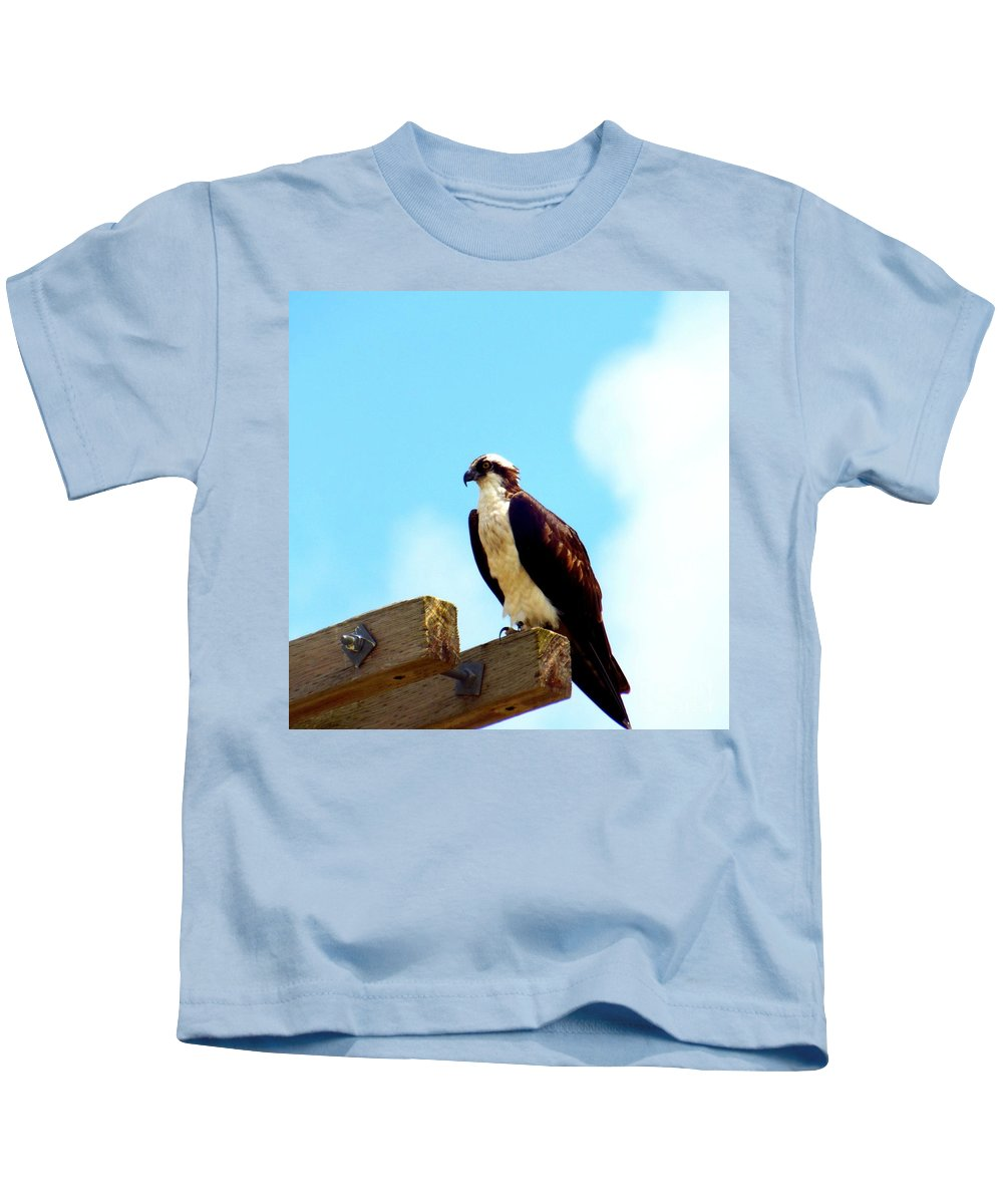 Osprey Kids T-Shirt featuring the photograph The Protector by CapeScapes Fine Art Photography