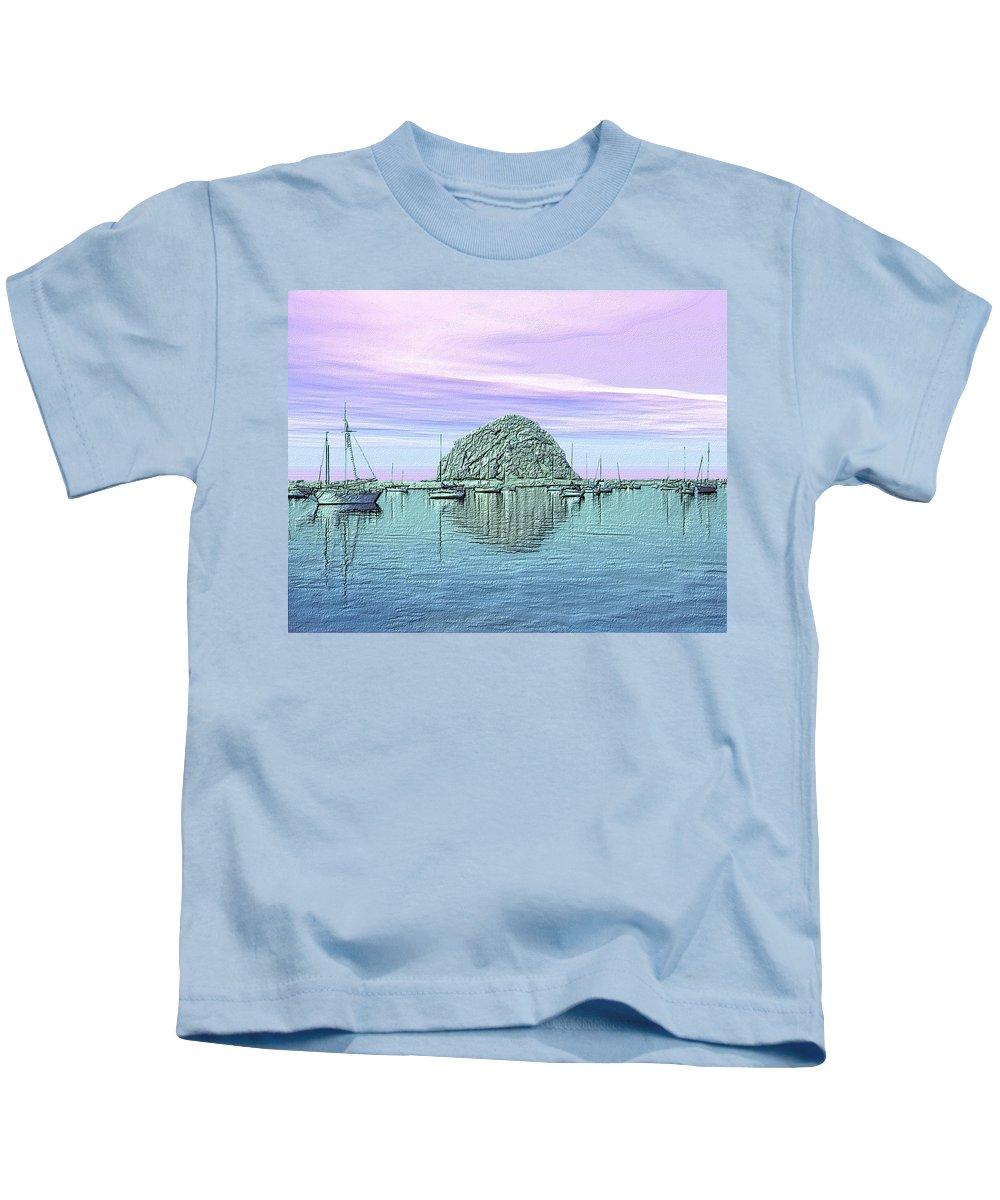 Seascape Kids T-Shirt featuring the photograph The Rock by Kurt Van Wagner
