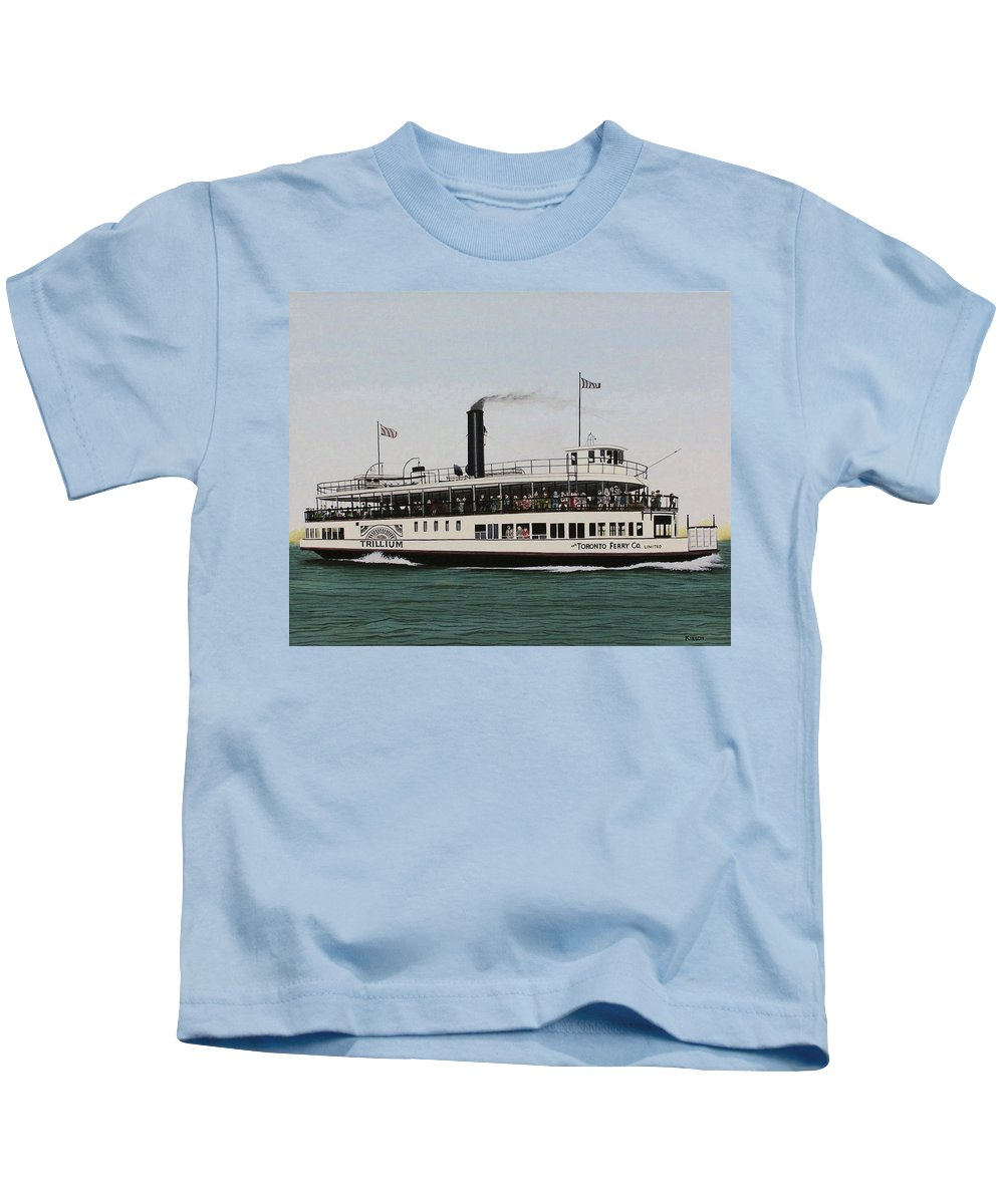 Landscapes Kids T-Shirt featuring the painting The Toronto Trillium by Kenneth M Kirsch