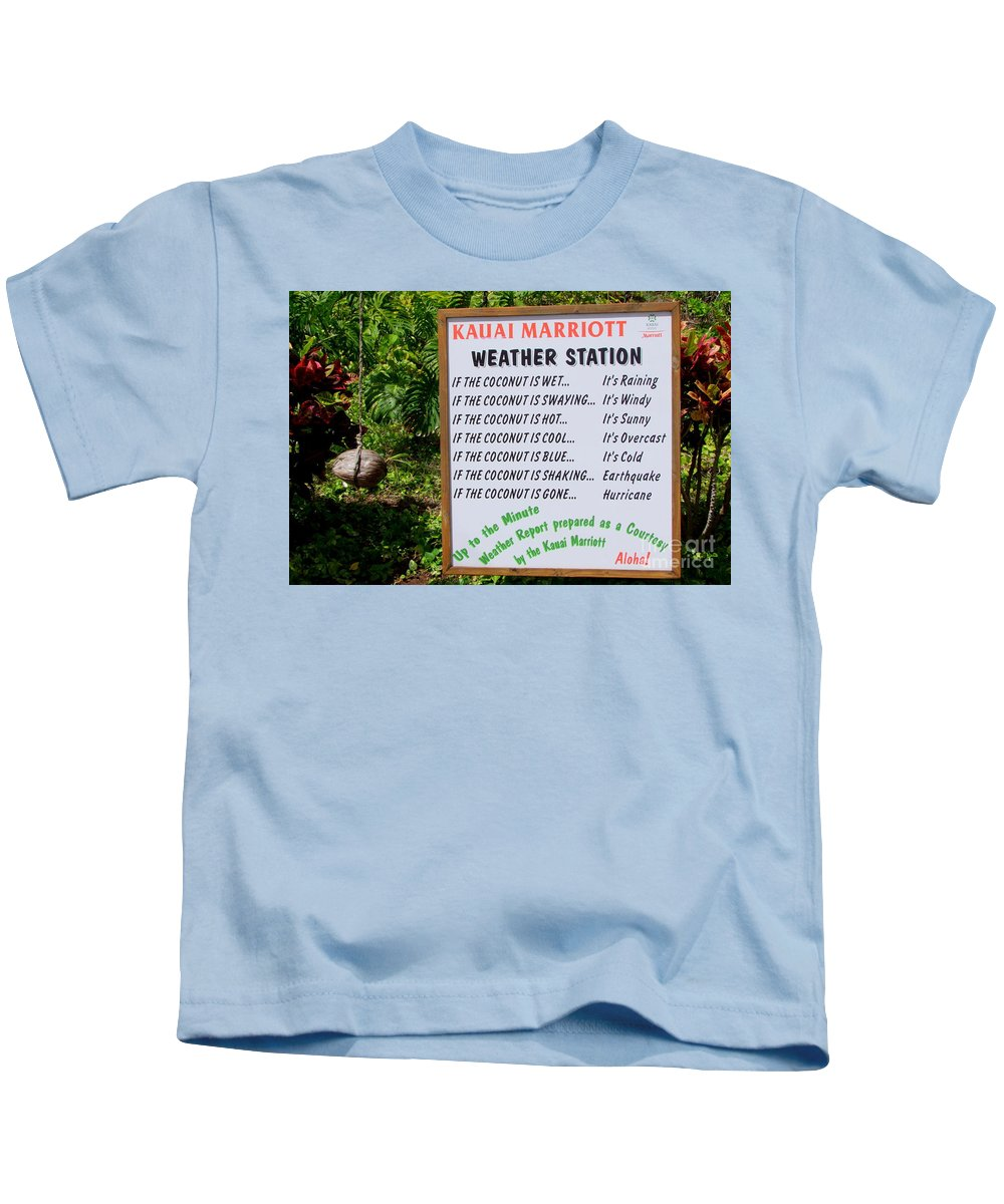 Weather Report Kids T-Shirt featuring the photograph The Weather Report by Mary Deal
