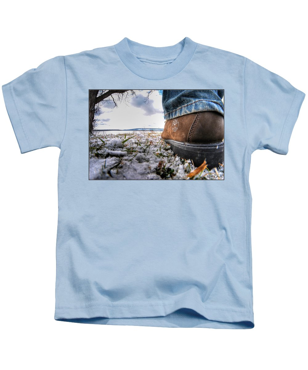 Kids T-Shirt featuring the photograph These Boots Were Made For... by Michael Frank Jr