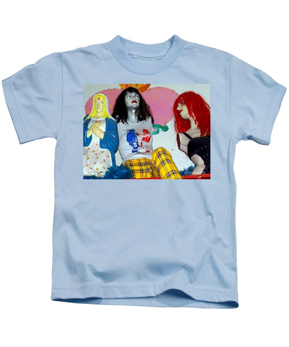 Mannequins Kids T-Shirt featuring the photograph Three Women by Ed Weidman