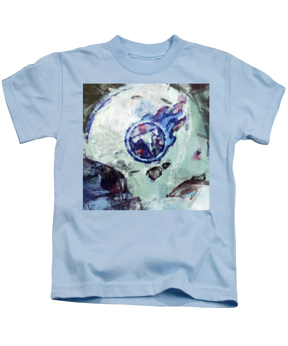 Titans Kids T-Shirt featuring the digital art Titans Art by David G Paul