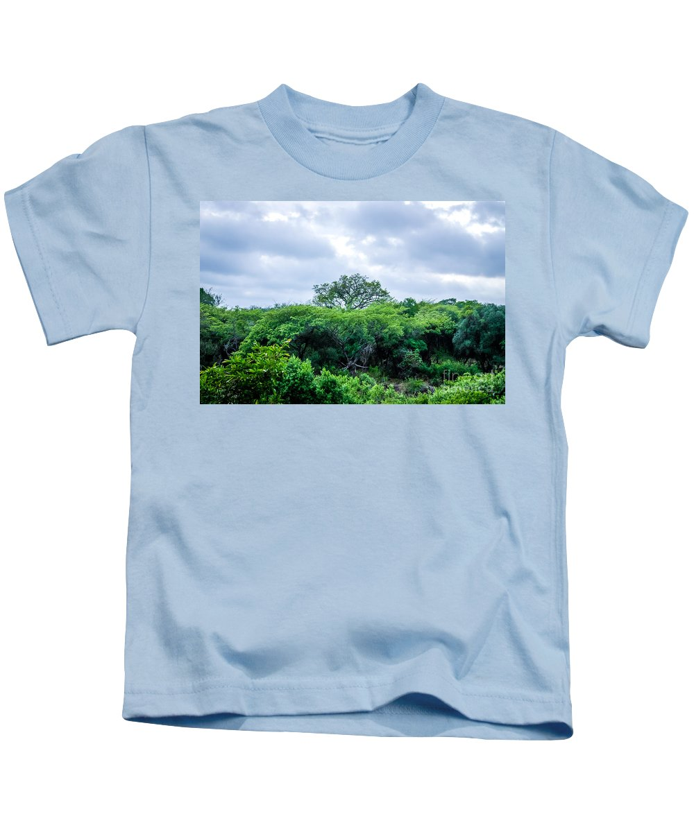 Africa Kids T-Shirt featuring the photograph Marula Tree In African Sky by DAC Photography