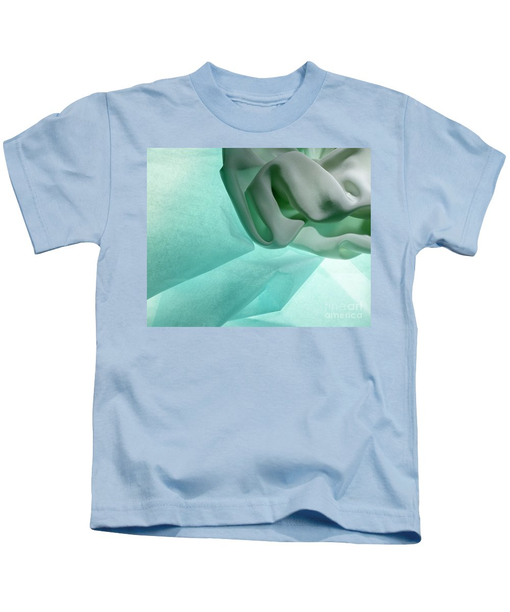 Abstract Kids T-Shirt featuring the photograph Turquoise Cloud by Stefania Levi