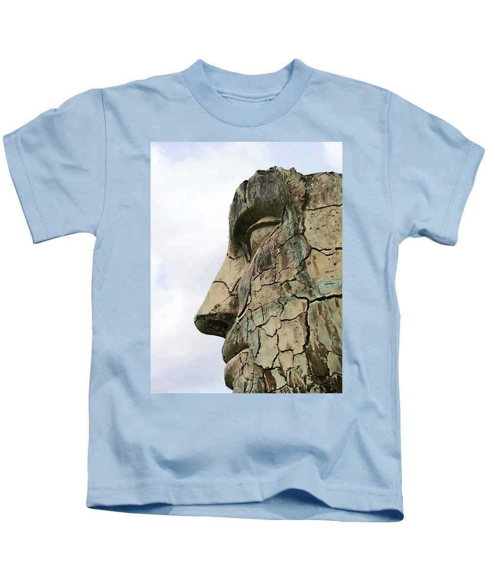 Tyndareus Cracked Kids T-Shirt featuring the photograph Tyndareus Cracked 1 by Ellen Henneke