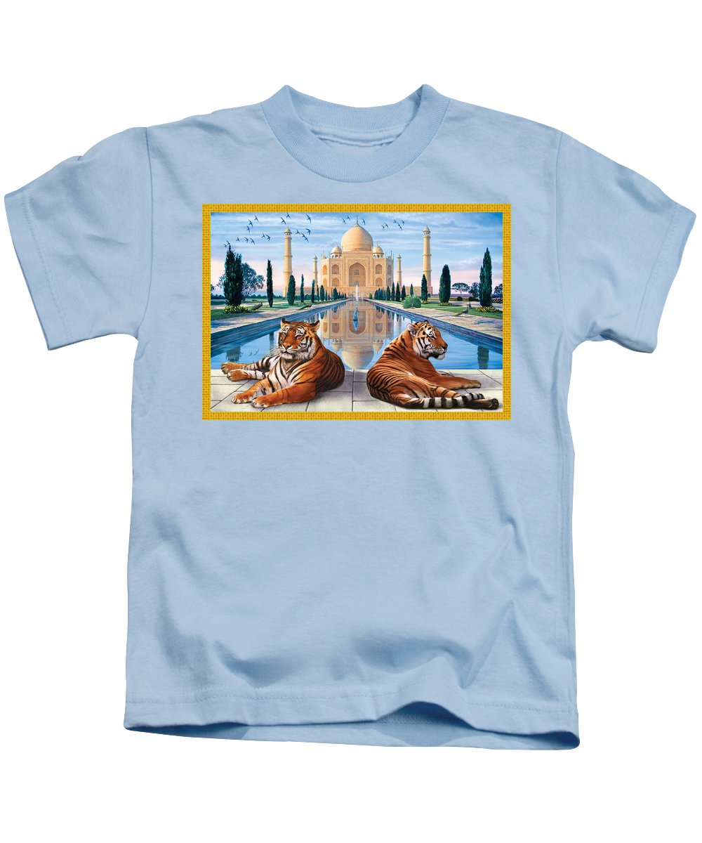 Animals Kids T-Shirt featuring the photograph Untitled by Steve Crisp