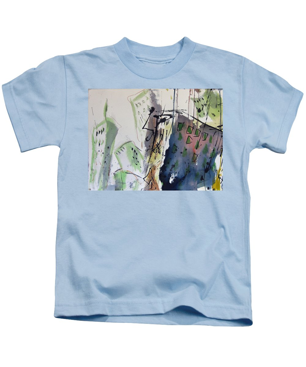 City Kids T-Shirt featuring the painting Uptown by Robert Joyner