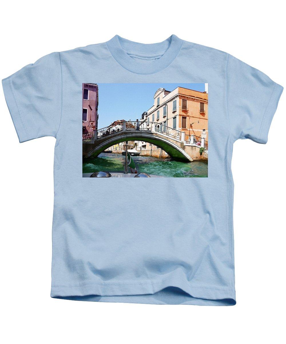 Italy Kids T-Shirt featuring the photograph Venice Bridge by Irina Sztukowski