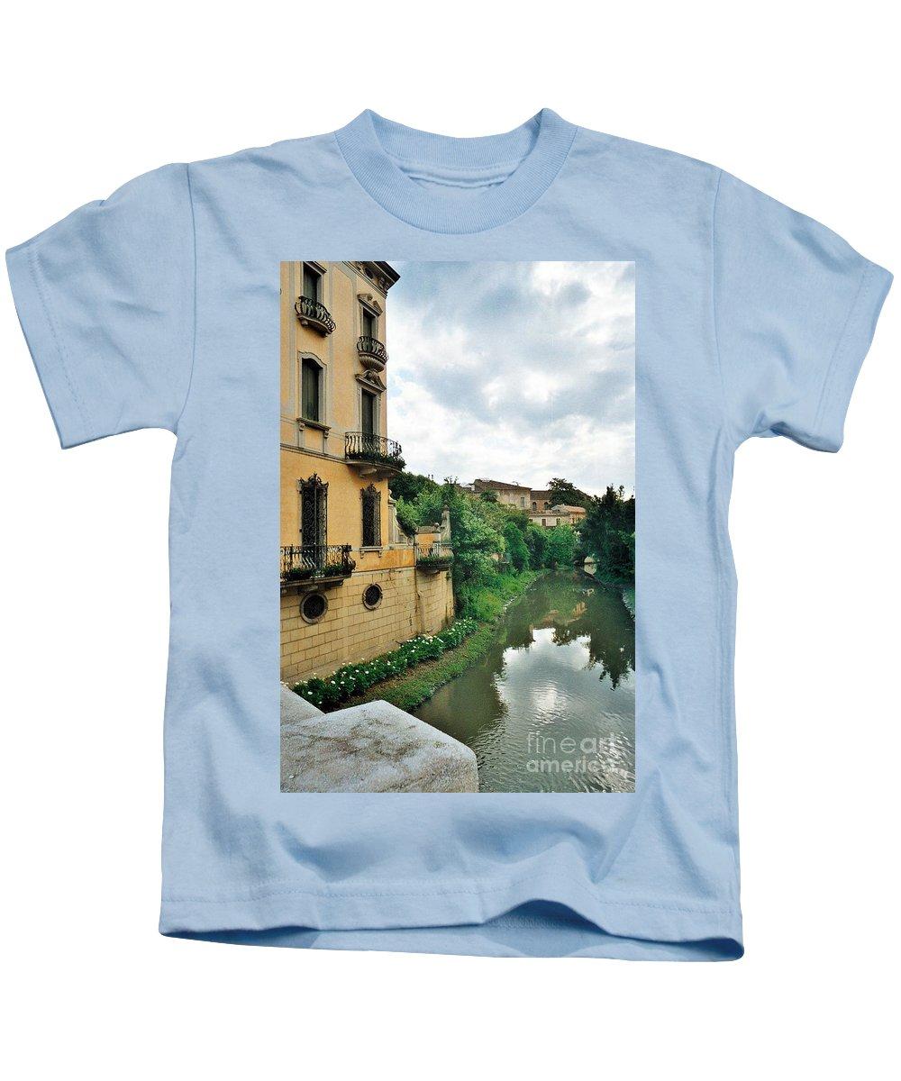Venice Kids T-Shirt featuring the photograph Venice Green by Lisa Kilby