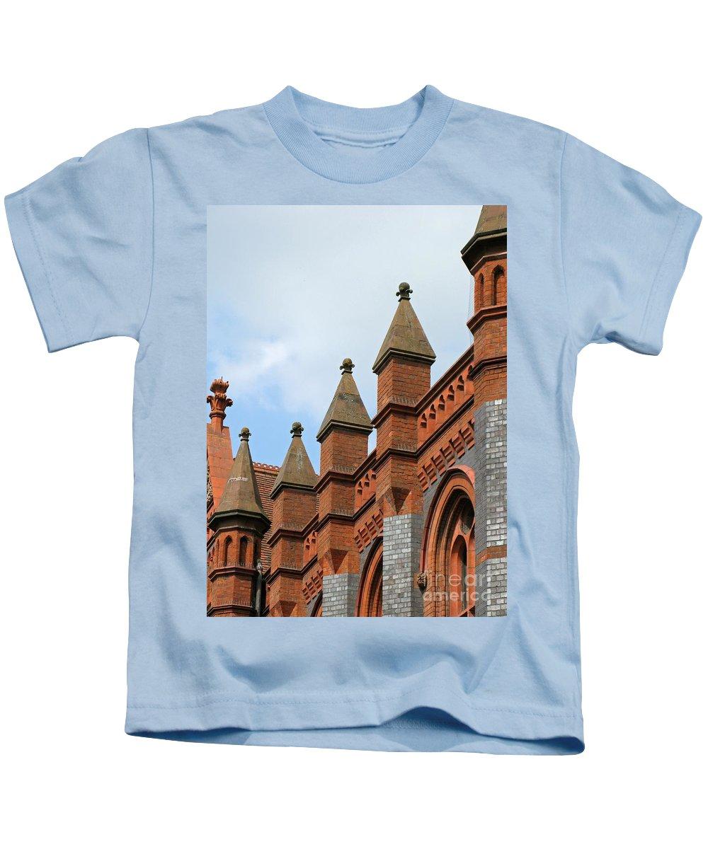 Victorian Kids T-Shirt featuring the photograph Victorian Orange by Ann Horn