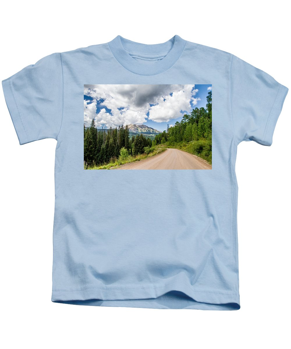 Colorado Kids T-Shirt featuring the photograph View From Kebler Pass by Jeff Stoddart