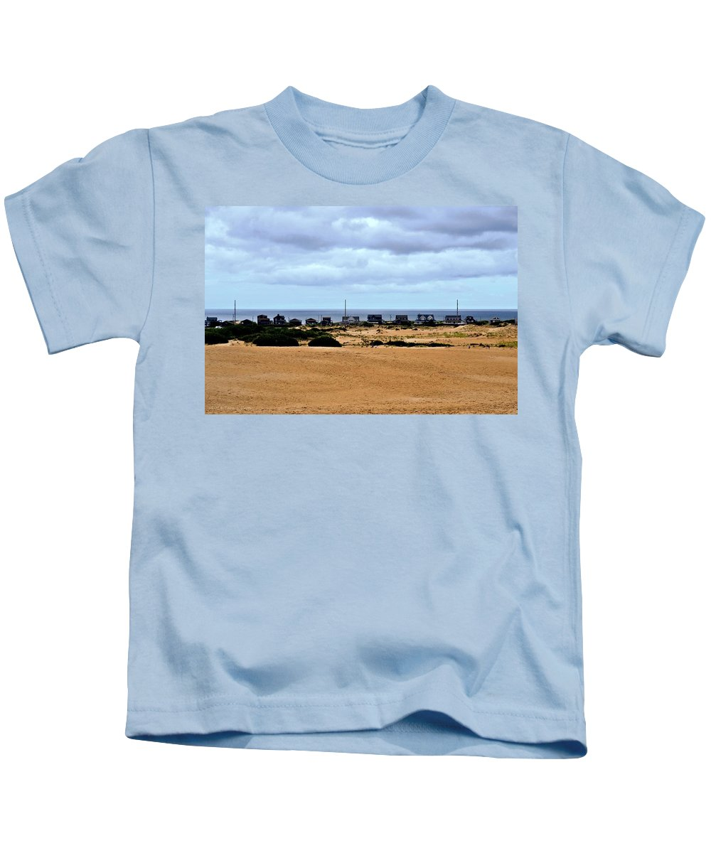 Dunes Kids T-Shirt featuring the photograph View From The Dunes by Tara Potts