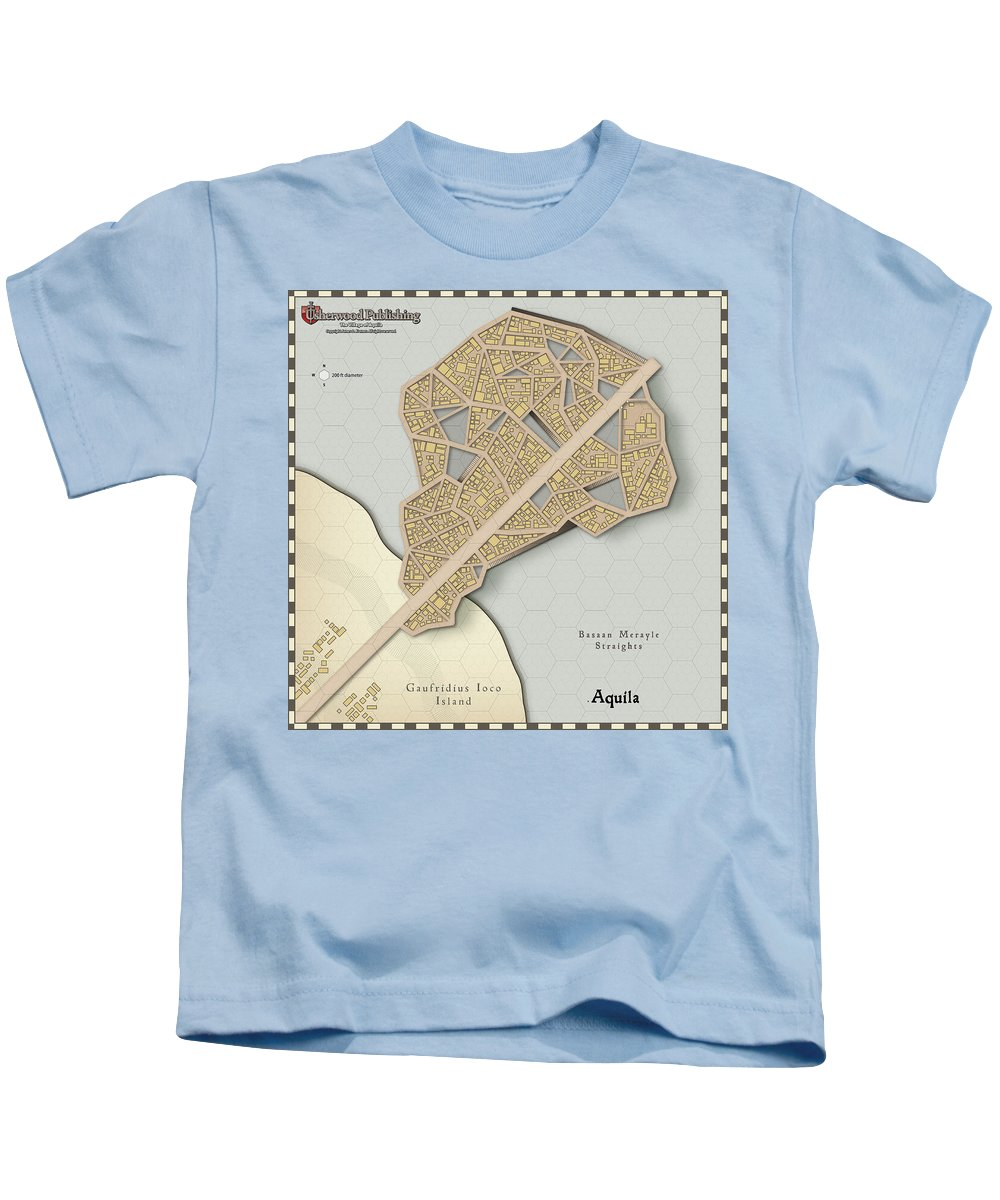 Usherwood Kids T-Shirt featuring the digital art Village Of Aquila by James Kramer