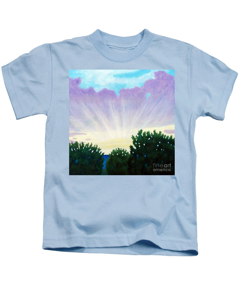 Skyscape Kids T-Shirt featuring the painting Visionary Sky by Brian Commerford