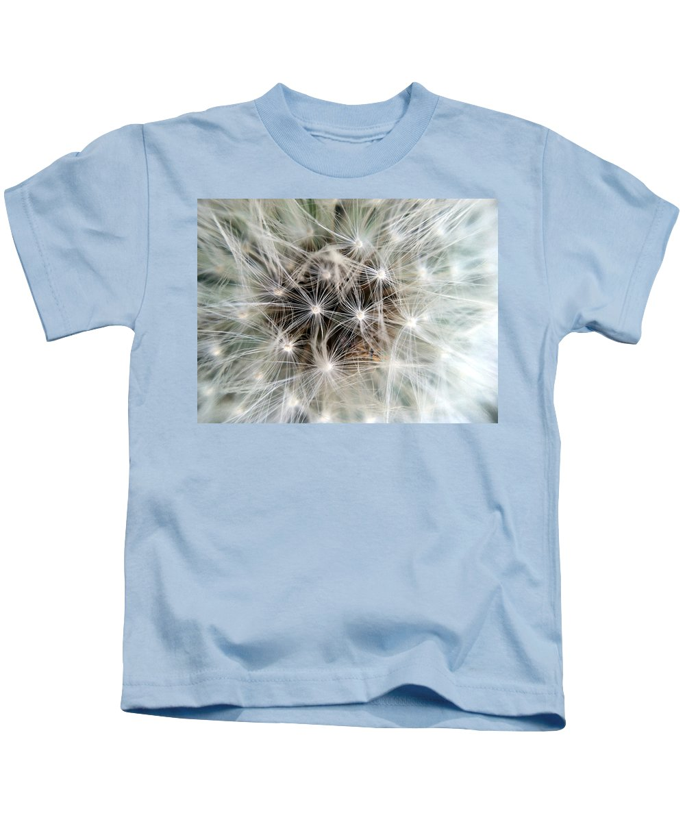 Dandelion Kids T-Shirt featuring the photograph Waiting For The Wind by Stacy Egnor