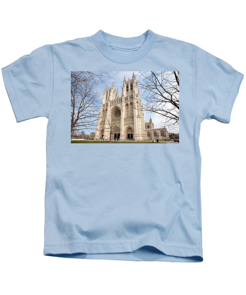 Cathedral Kids T-Shirt featuring the photograph Washington National Cathedral by Bill Cobb