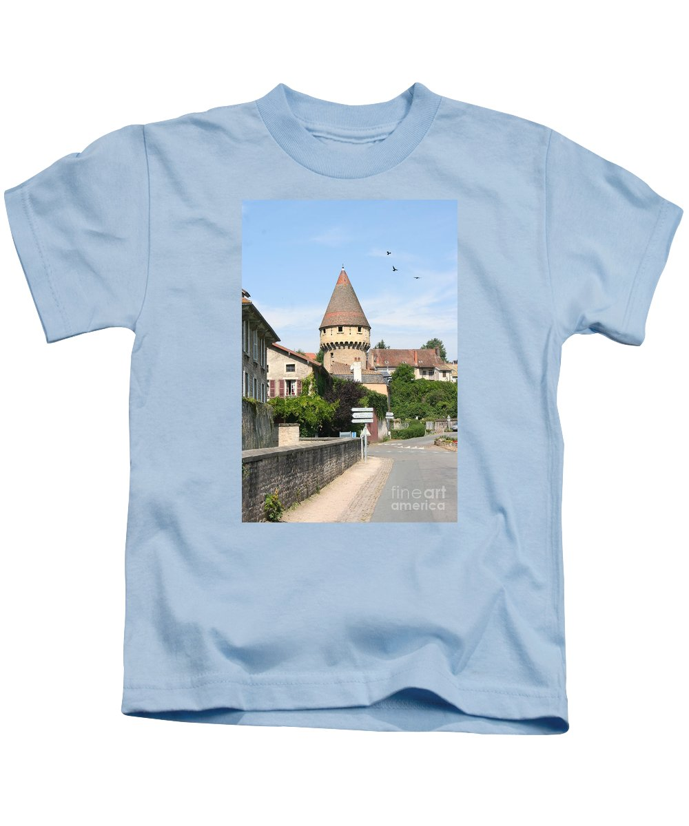 Tower Kids T-Shirt featuring the photograph Watch Tower In Cluny by Christiane Schulze Art And Photography