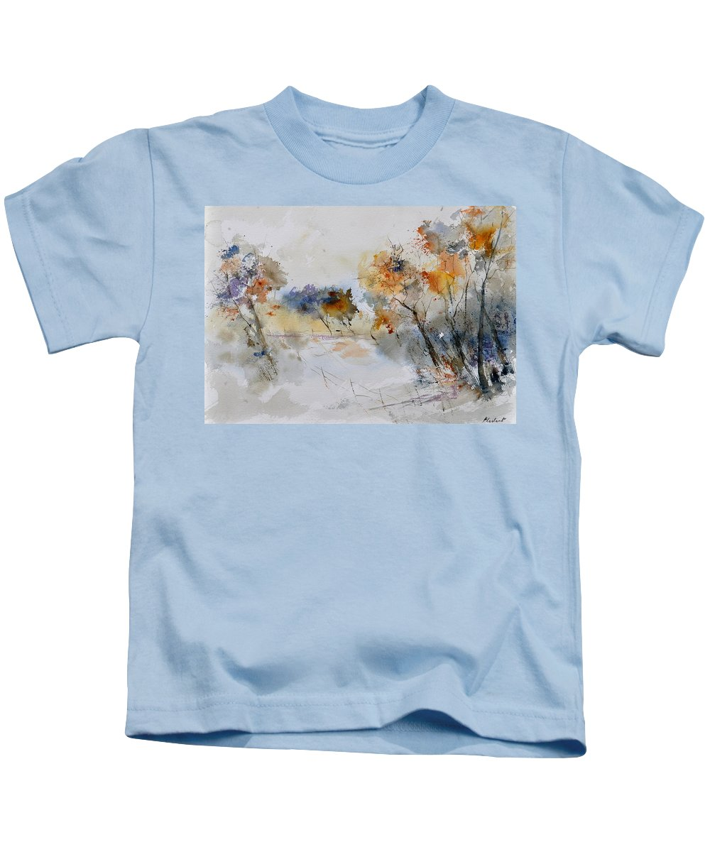 Landscape Kids T-Shirt featuring the painting Watercolor 418022 by Pol Ledent
