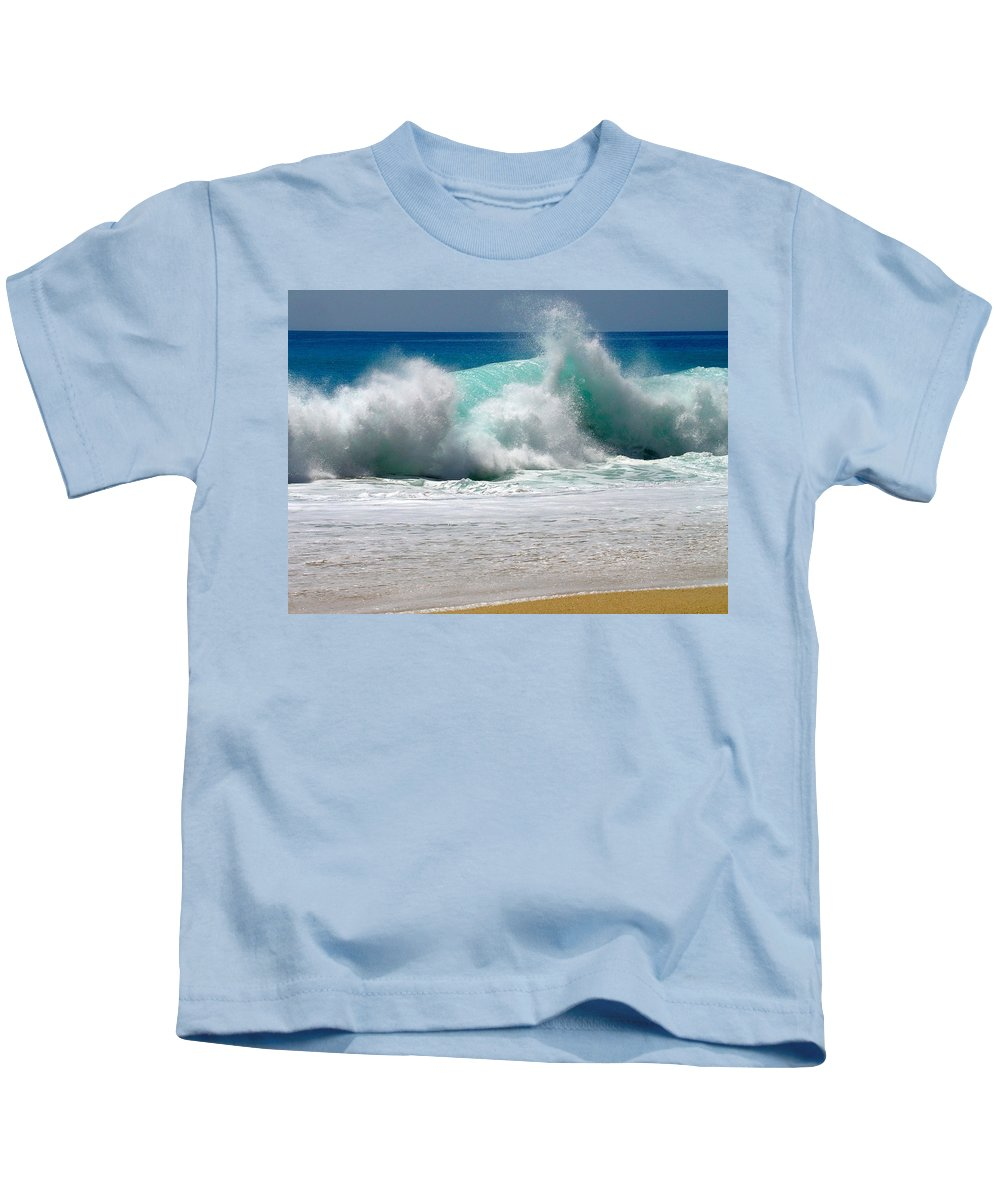 Water Kids T-Shirt featuring the photograph Wave by Karon Melillo DeVega