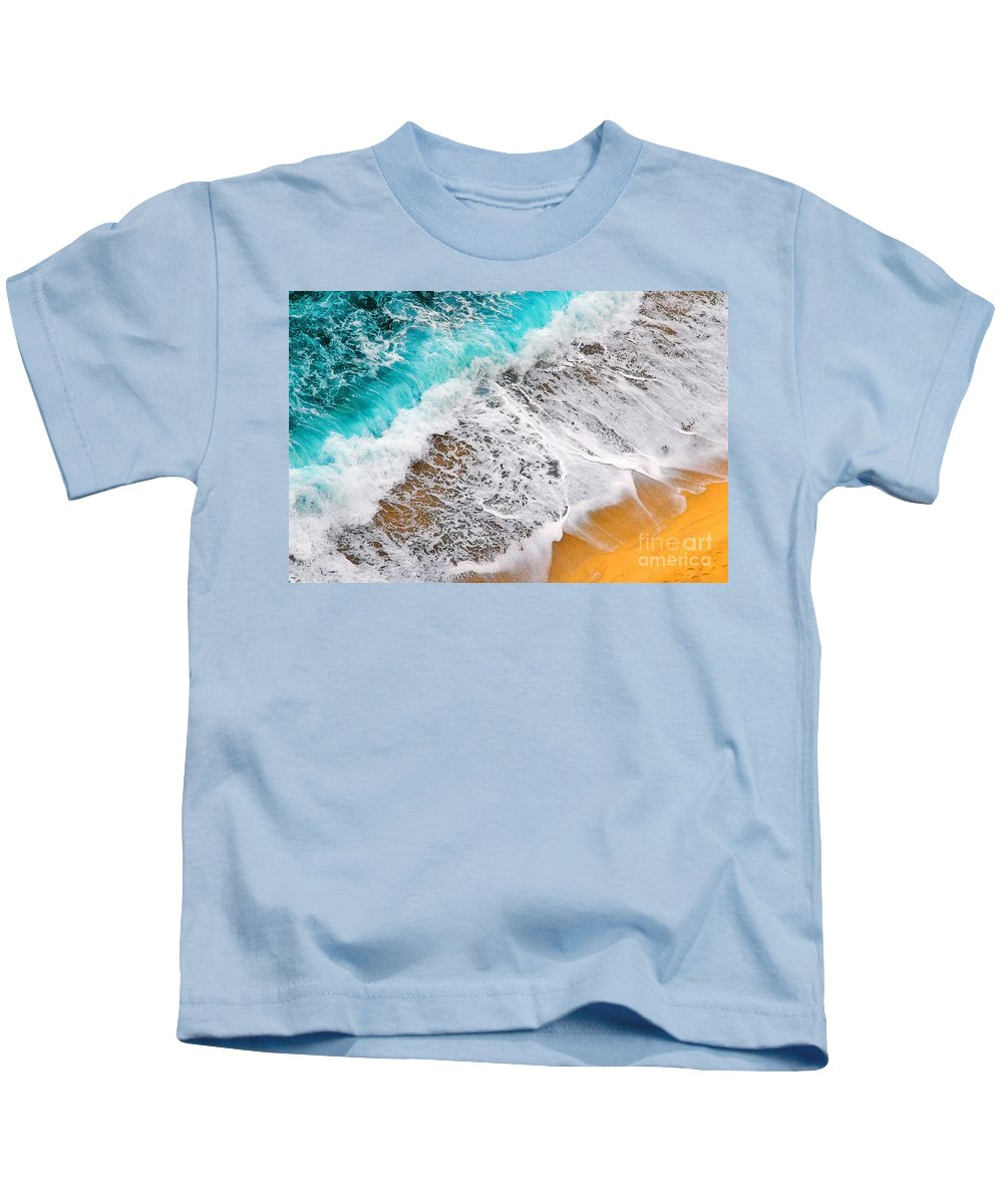 Waves Kids T-Shirt featuring the photograph Waves Abstract by Silvia Ganora