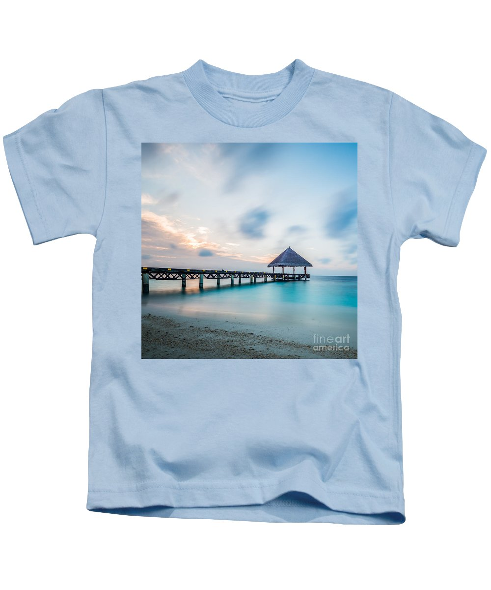 Atoll Kids T-Shirt featuring the photograph Welcome by Hannes Cmarits