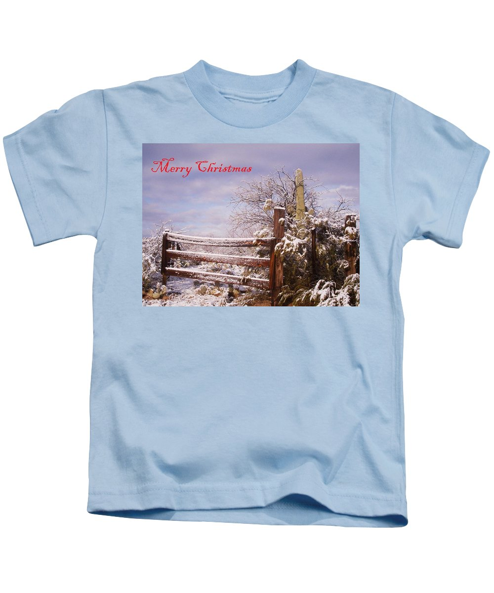 Winter Kids T-Shirt featuring the photograph Western Christmas by David S Reynolds