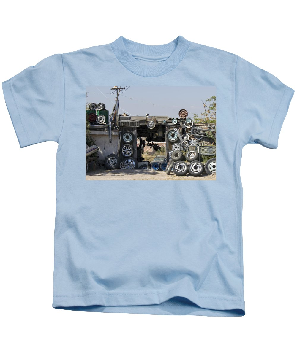 Kids T-Shirt featuring the photograph Wheels For Sale Mexico by Cathy Anderson