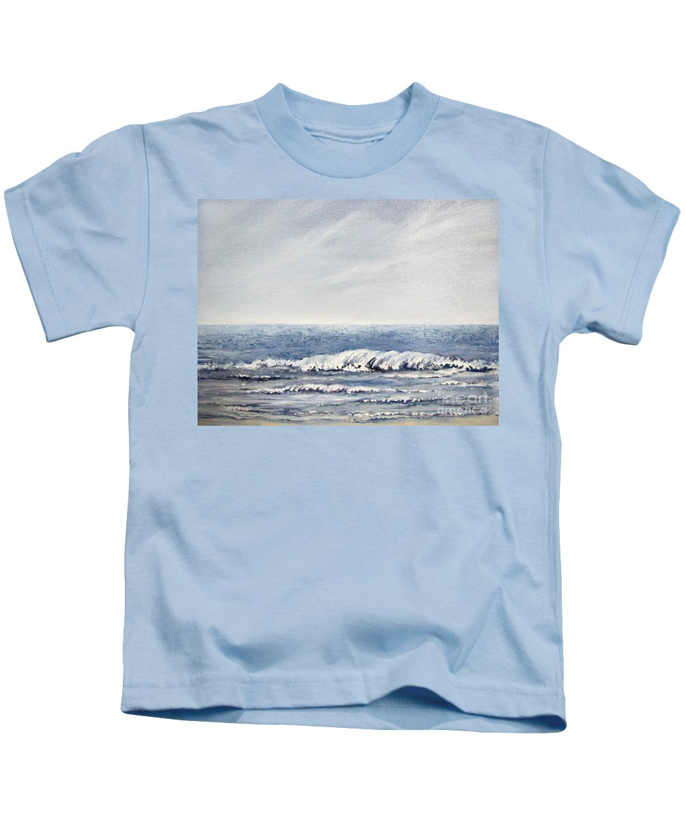 Seascape Kids T-Shirt featuring the painting Where I Want To Be by Todd Blanchard