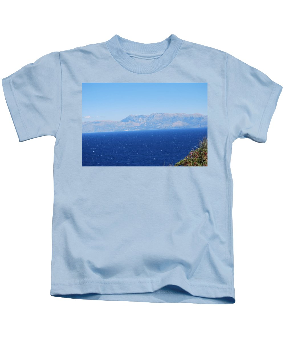 White Trail Kids T-Shirt featuring the photograph White Trail by George Katechis