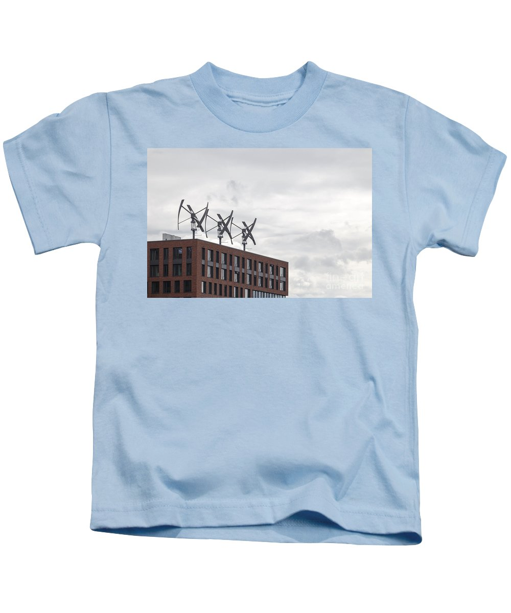 2014 Kids T-Shirt featuring the photograph Wind Generators by Jannis Werner