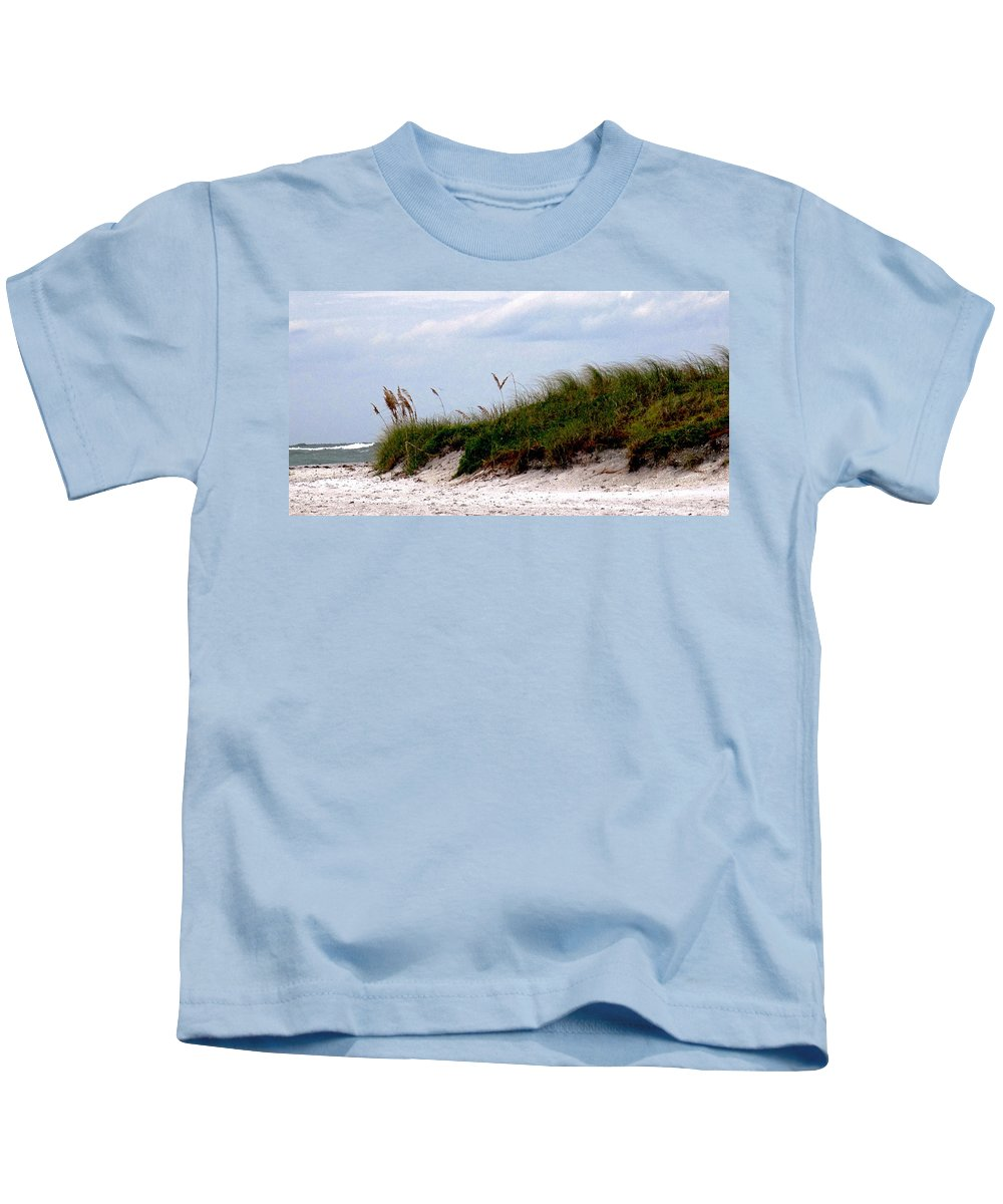 Beach Kids T-Shirt featuring the photograph Wind In The Seagrass by Ian MacDonald