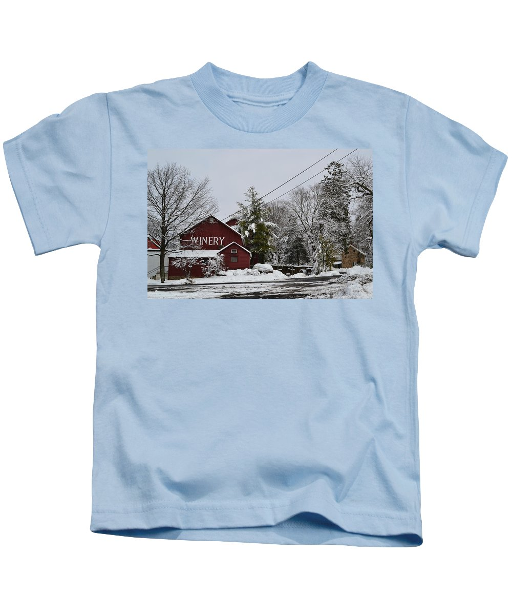 Winery Kids T-Shirt featuring the photograph Winery by Michael Brooks