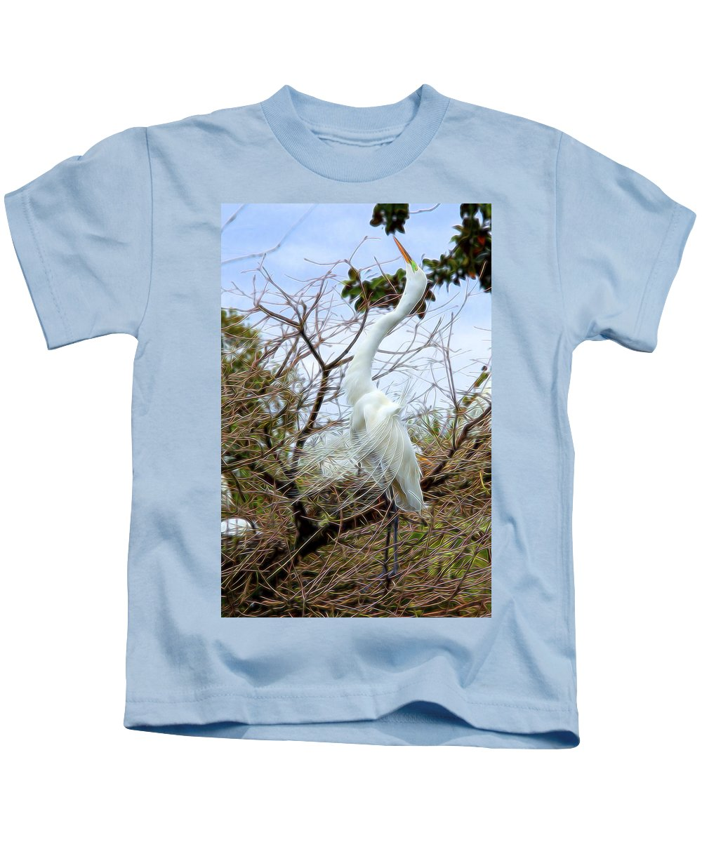 Nature Kids T-Shirt featuring the digital art Winged Grace 2 by William Horden