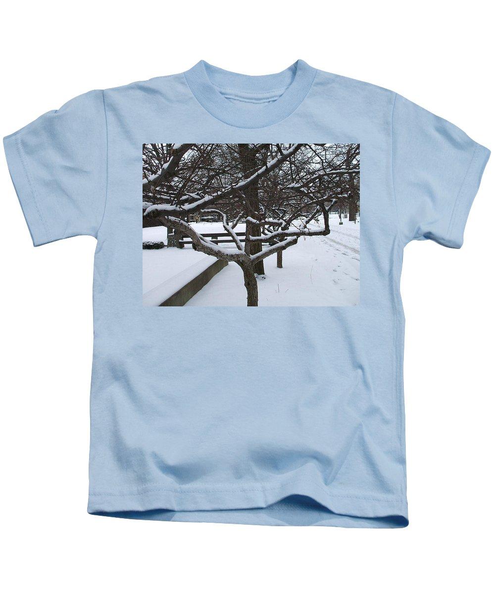Landsape Kids T-Shirt featuring the photograph Winter by Jo Dawkins