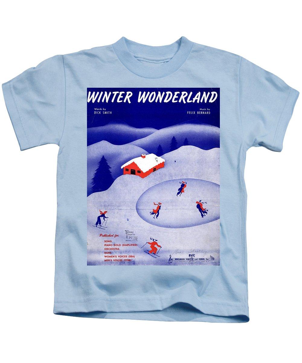 Nostalgia Kids T-Shirt featuring the photograph Winter Wonderland by Mel Thompson