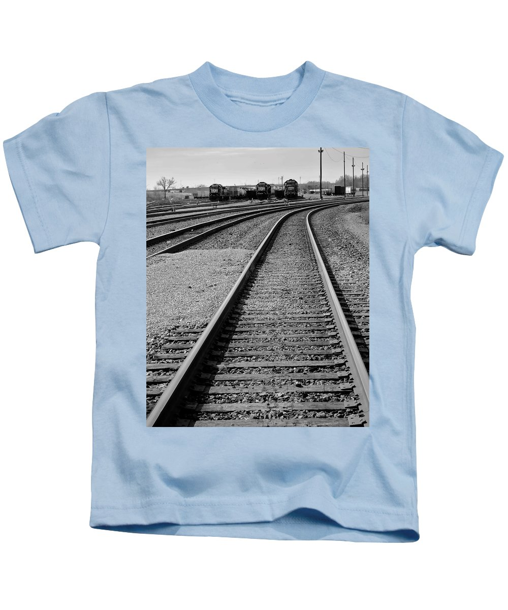 Train Kids T-Shirt featuring the photograph Yesteryear by Frozen in Time Fine Art Photography
