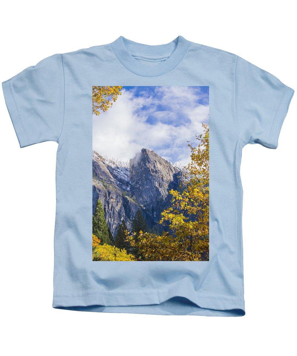 Yosemite Kids T-Shirt featuring the photograph Yosemite Between Seasons by Doug Holck