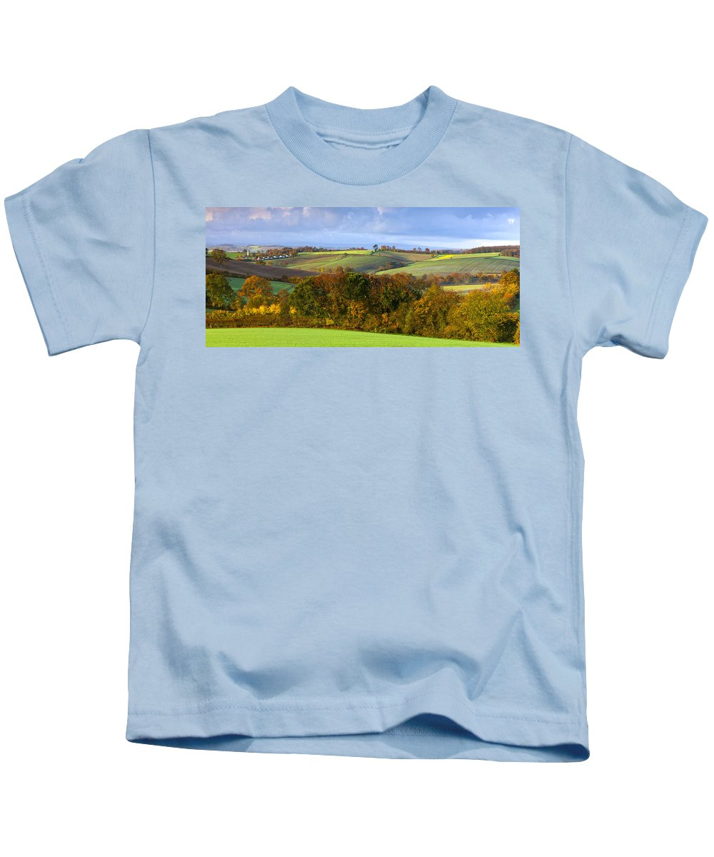 Agriculture Kids T-Shirt featuring the photograph Autumn by Sebastian Wasek