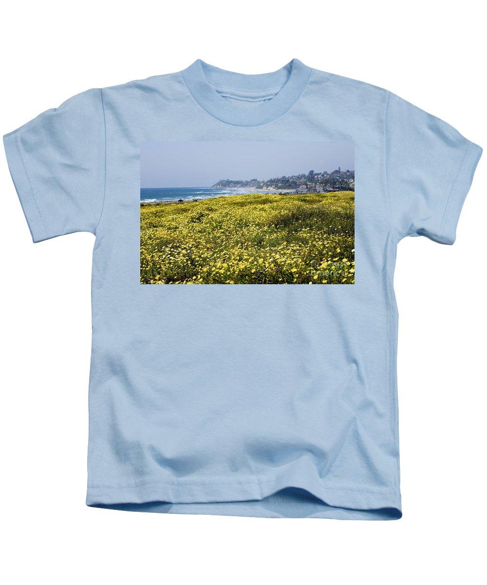 Wildflowers Kids T-Shirt featuring the photograph California Wildflowers by Daniel Knighton