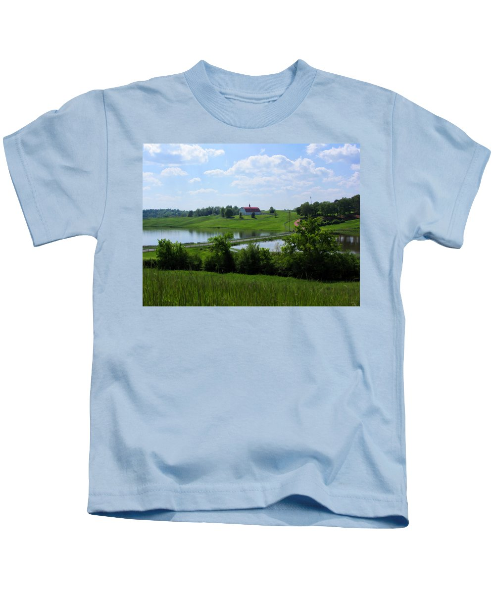 Farm Kids T-Shirt featuring the photograph Down On The Farm by Kathy Clark
