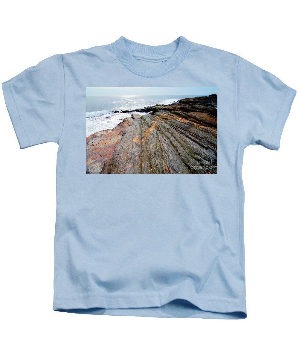Lichen Kids T-Shirt featuring the photograph Lichen On The Rocks by Mike Nellums