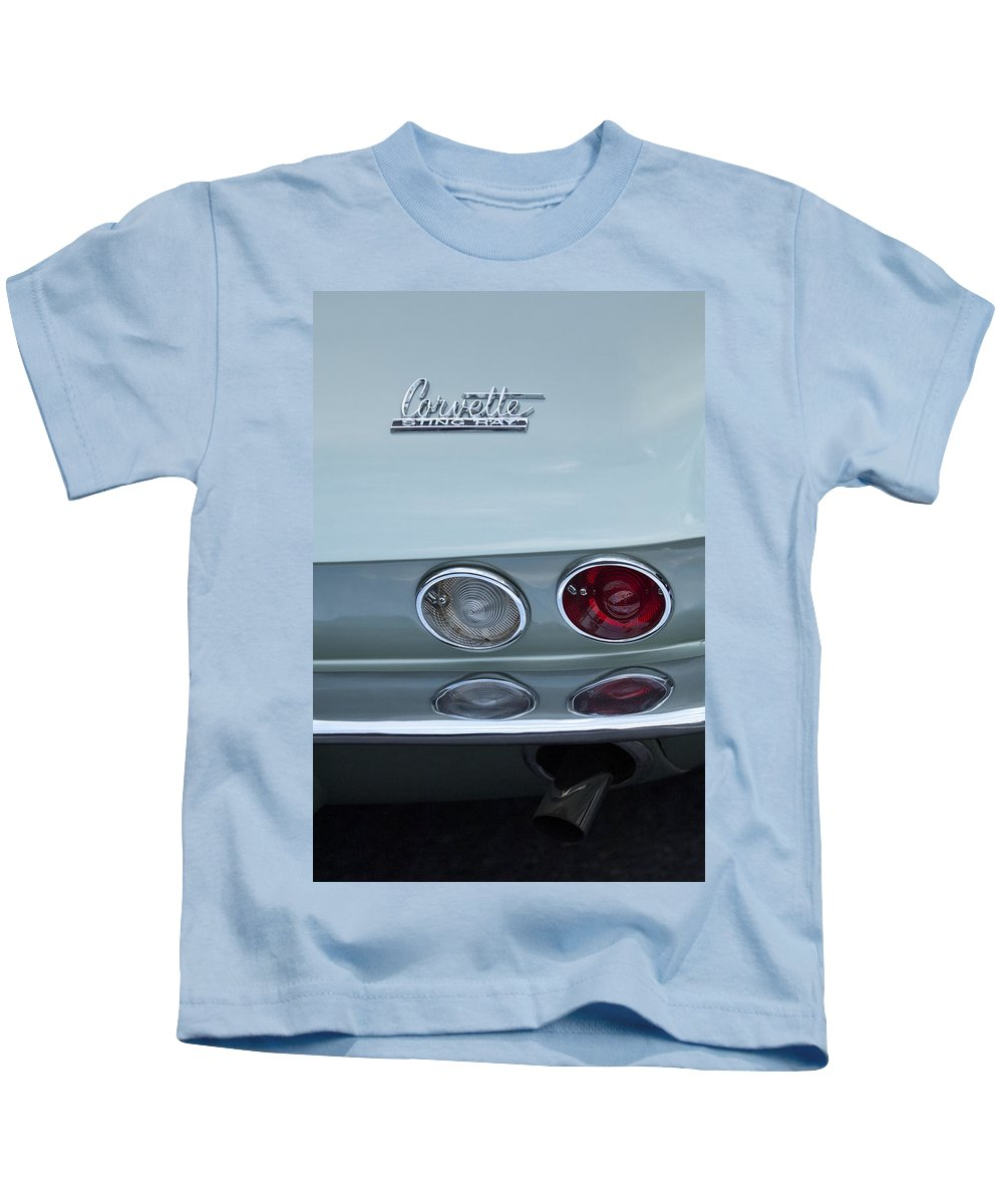 1966 Chevrolet Corvette Kids T-Shirt featuring the photograph 1966 Chevrolet Corvette Tail Light 2 by Jill Reger