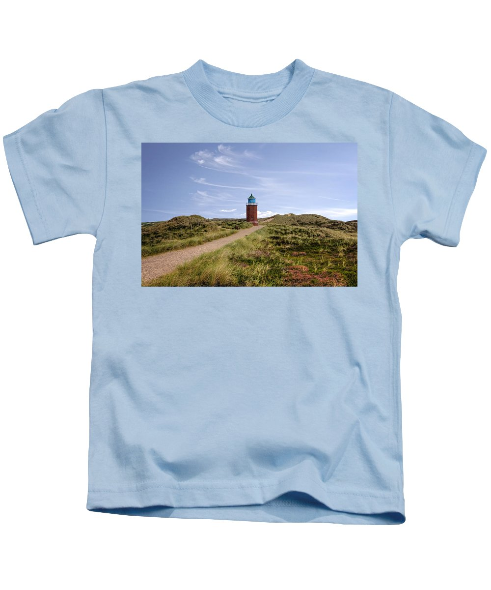 Lighthouse Kids T-Shirt featuring the photograph Kampen - Sylt by Joana Kruse
