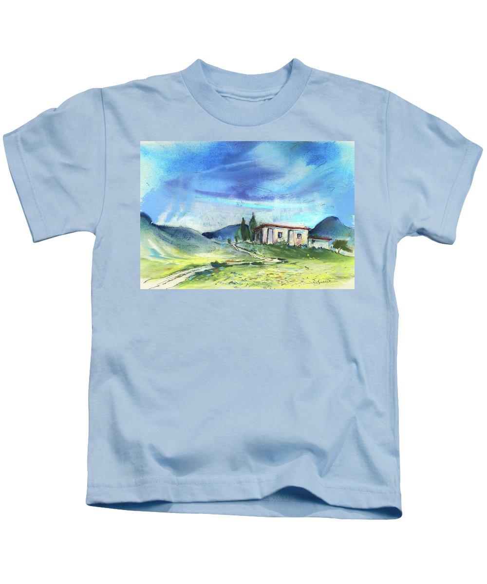 Spain Kids T-Shirt featuring the painting Almeria Region In Spain 02 by Miki De Goodaboom