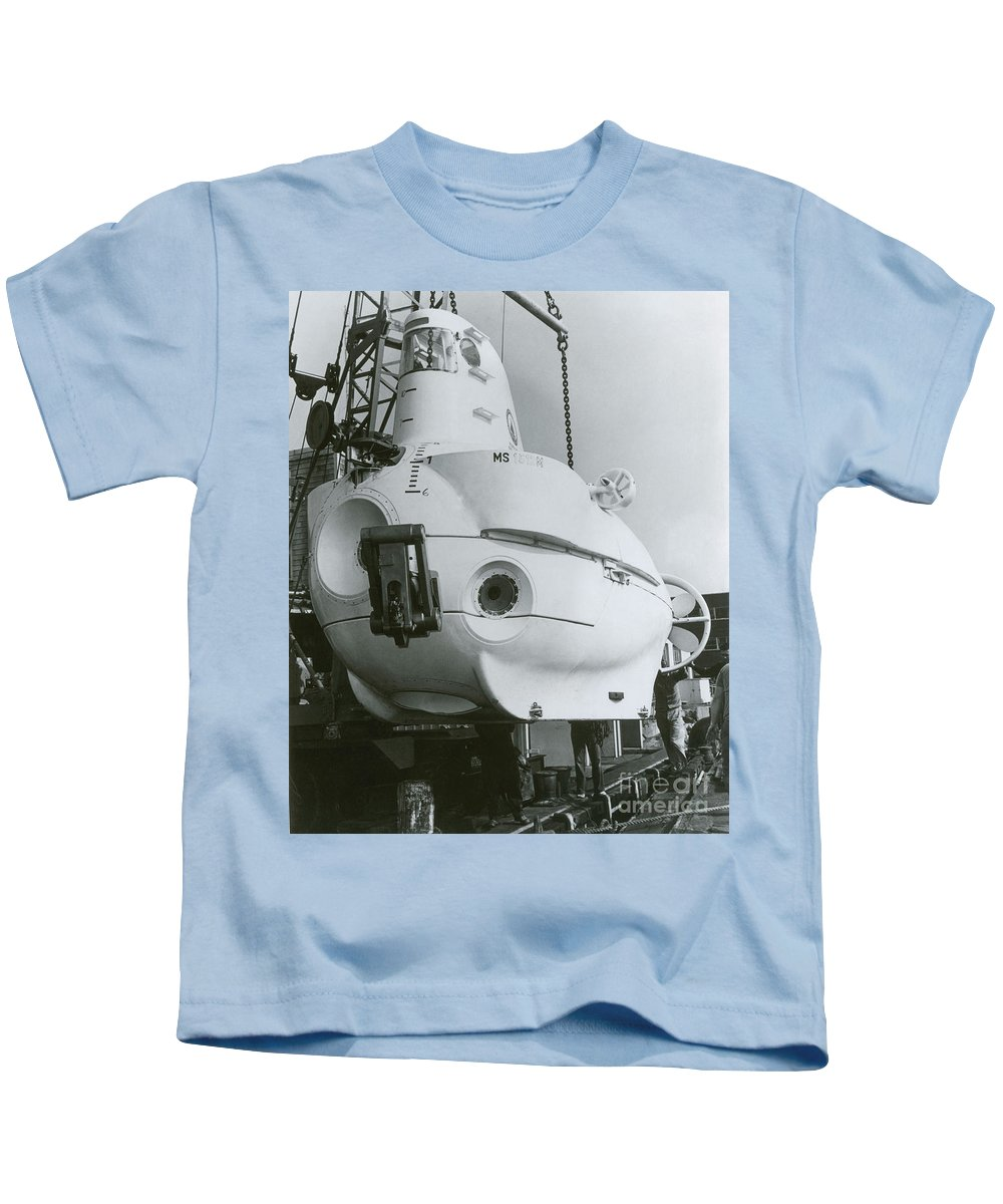 Science Kids T-Shirt featuring the photograph Alvin, Deep Sea Ocean Research Vessel by Omikron