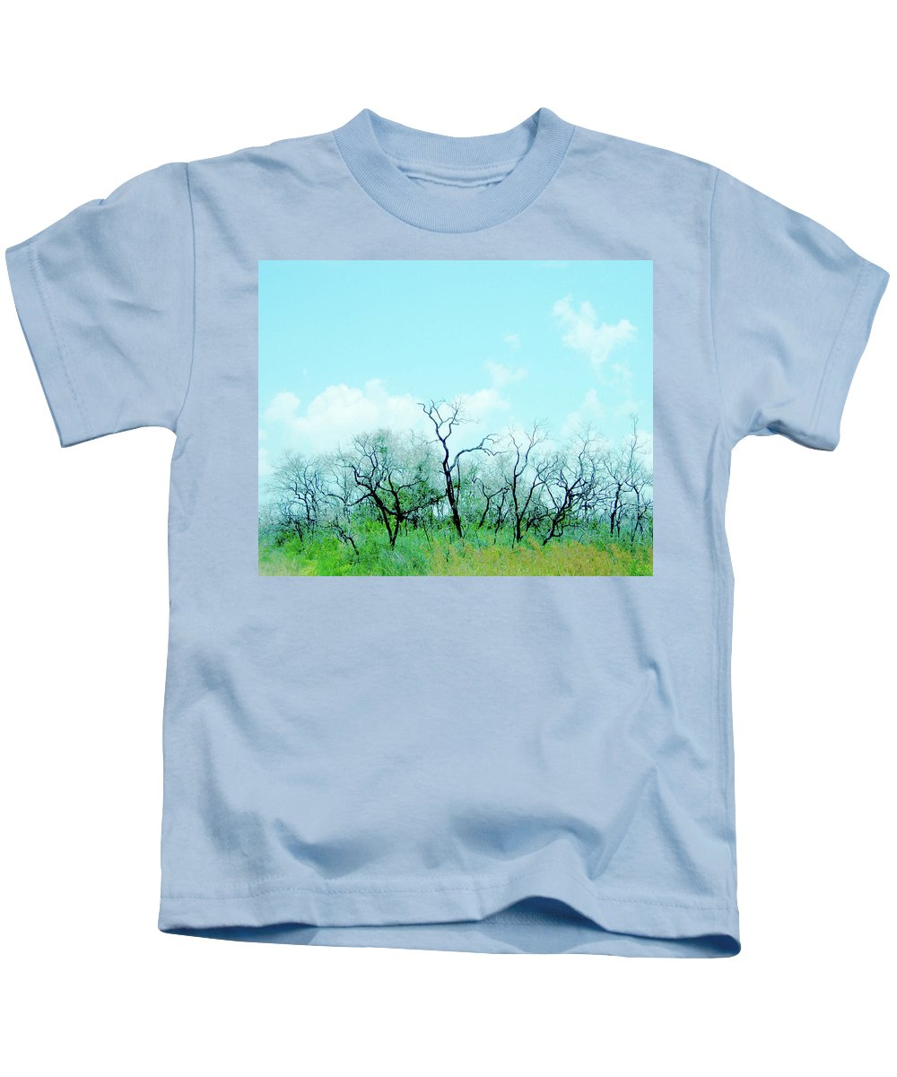 Aransas Kids T-Shirt featuring the digital art Aransas Nwr Texas by Lizi Beard-Ward