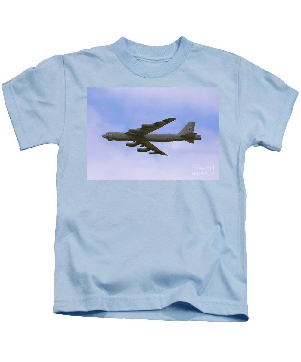 Boeing Kids T-Shirt featuring the photograph B-52 In Flight by Tim Mulina