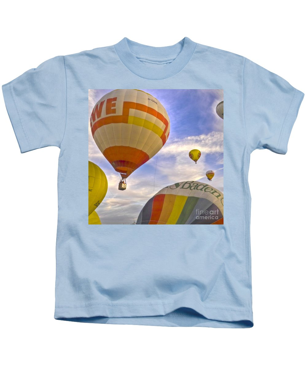 Europe Kids T-Shirt featuring the photograph Balloon Ride by Heiko Koehrer-Wagner