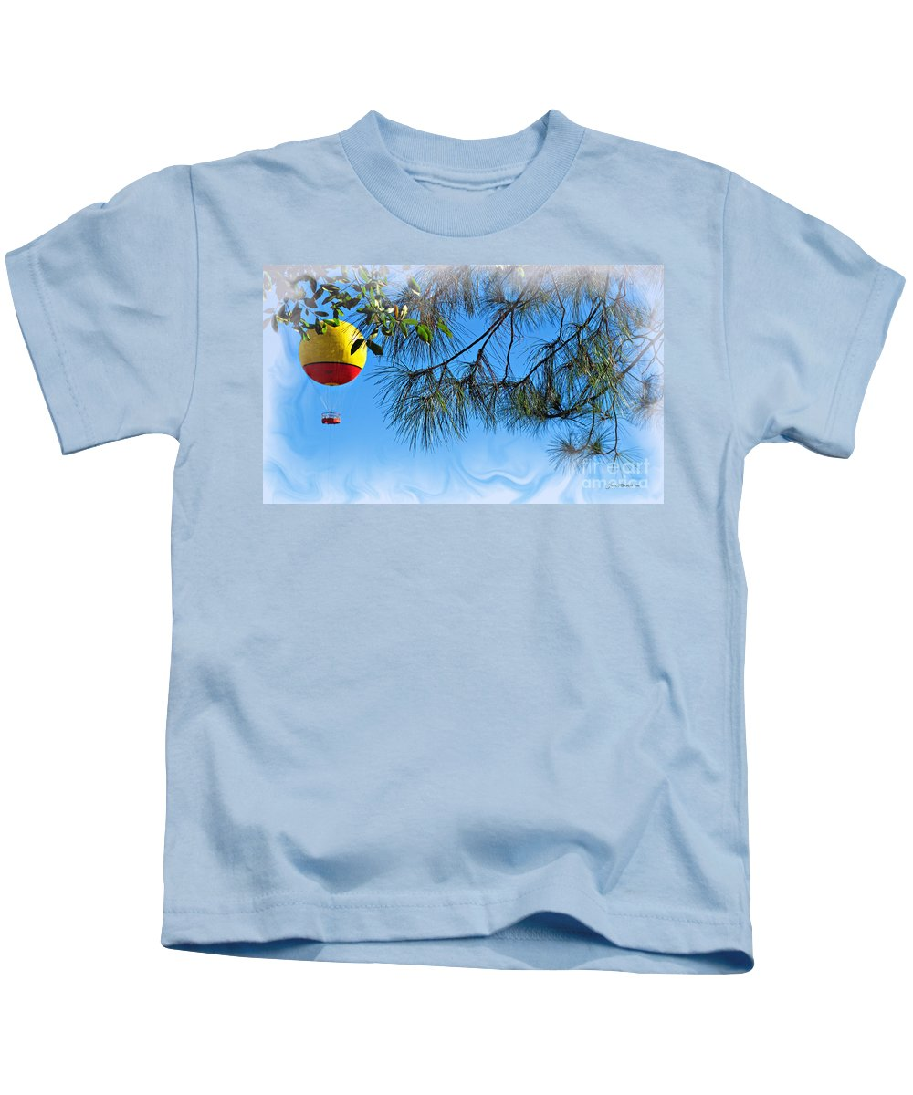 Balloon Kids T-Shirt featuring the photograph Balloon Ride by Joan Minchak